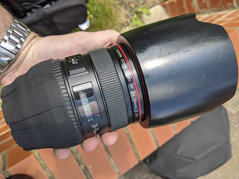 The Canon 24-70mm f/2.8 L series lens