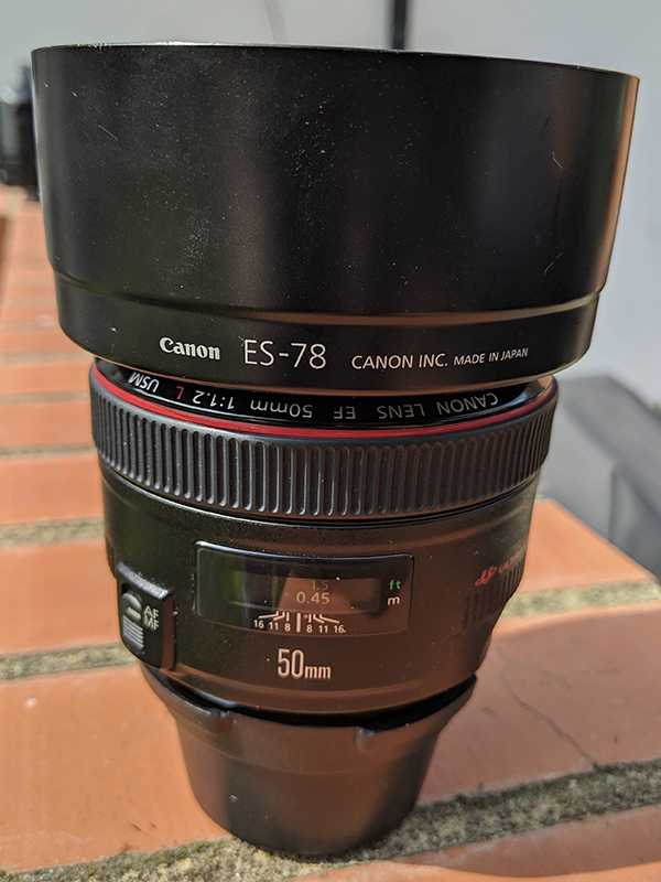The Canon 50mm 1.2L series lens