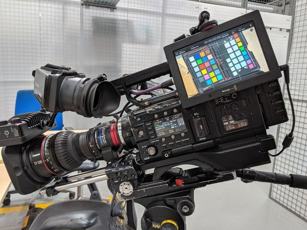 The Canon CN7x17 lens mounted on our Sony PMW-F5 camera