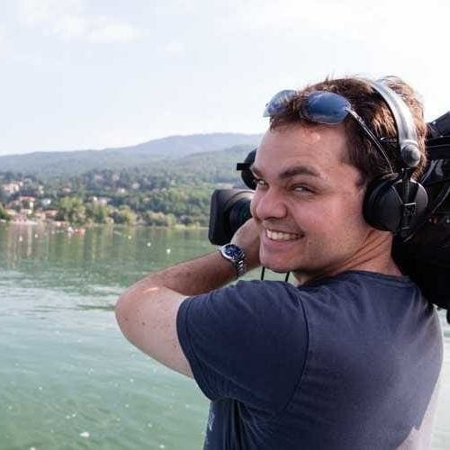 Image of Nick Smith in Varese, Italy, shooting for ABC Australia